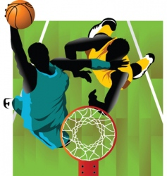 basket and ball vector image