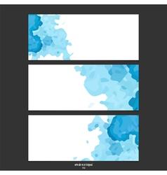 blue watercolor banner vector image