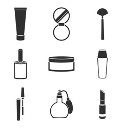 cosmetic icons set vector image vector image