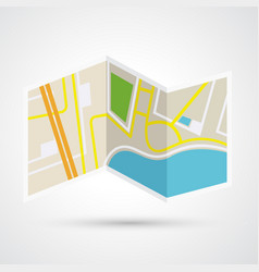 paper map icon vector image vector image