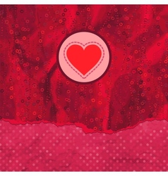 Valentine card with heart EPS 8 vector image vector image