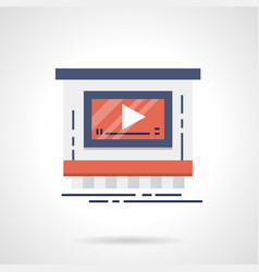Video advertising service flat color icon vector