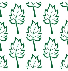 Seamless pattern of green leaves vector image vector image