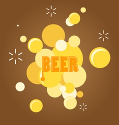 Text and beer bubble vector