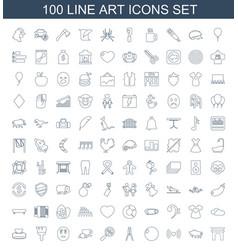 100 art icons vector