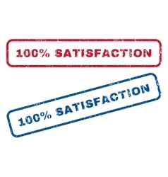 100 Percent Satisfaction Rubber Stamps vector