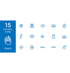 15 track icons vector image
