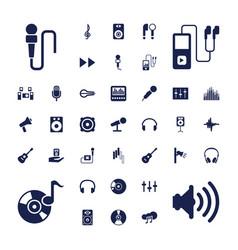 37 audio icons vector