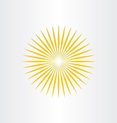abstract sun sunshine icon design vector image