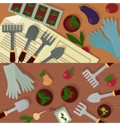 Agricultural and garden accessories or equipment vector image