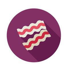 bacon pieces icon vector image