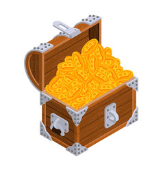 bitcoin chest treasures are crypto currency old vector image