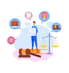 Businessman boss showing contract terms character vector