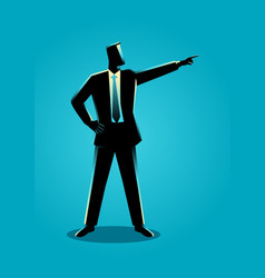businessman pointing finger vector image
