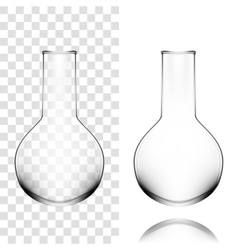 Chemical Laboratory Glassware Or Beaker Glass vector image