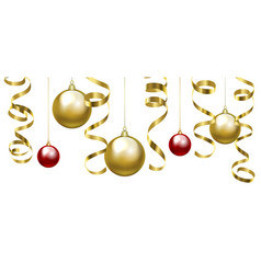 Christmas clip art with baubles vector