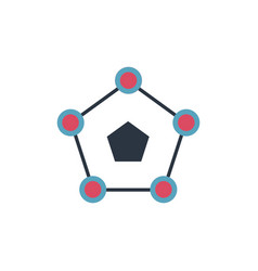 Circle pentagon molecular structure can be used vector