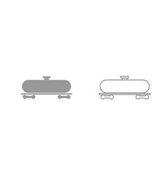 cistern grey set icon vector image