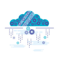 Cloud computing with gears settings vector
