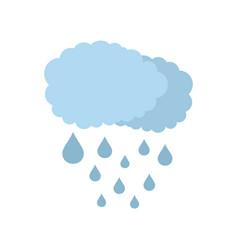 cloud rain icon flat style vector image