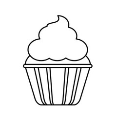 Cupcake with frosting icon image vector