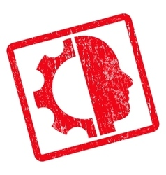 Cyborg Gear Icon Rubber Stamp vector image