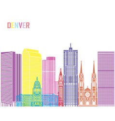 Denver v2 skyline pop vector