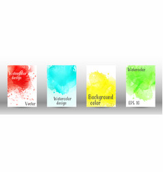 design cover with a picture of watercolor spray vector image
