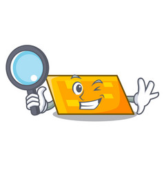 Detective parallelogram character cartoon style vector