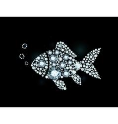 Diamond Fish vector image