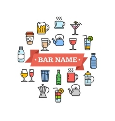 Drink Sign vector image