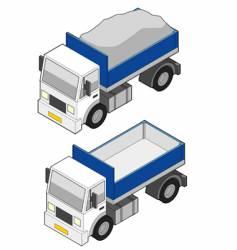 Dumper truck icon vector