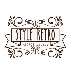 Elegant frame style retro vector