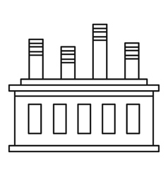 Factory building icon outline style vector