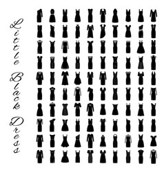fashion little black dresses big collection of vector image vector image