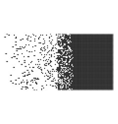 Filled square disappearing pixel icon vector