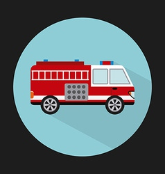fire truck design vector image