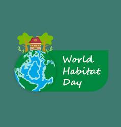 for world habitat day vector image