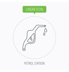 Gasoline pump nozzle icon Petrol station sign vector image