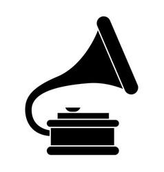 Gramophone 2 icon black sign vector