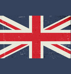 grunge image of the british flag abstract grungy vector image