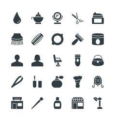 Hair Salon Cool Icons 3 vector