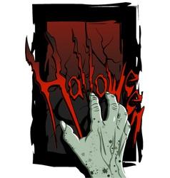 hand Halloween vector image