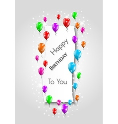 Happy birthday label and balloons vector