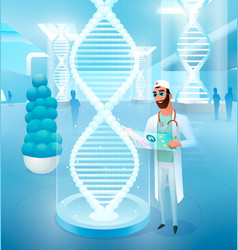 healing diseases with editing dna concept vector image