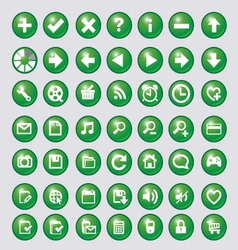 Icon with green circle vector image