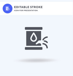 leak icon filled flat sign solid vector image