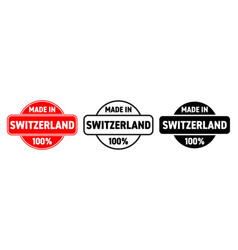 made in switzerland icon swiss made quality vector image