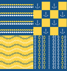 marine seamless pattern set 1 vector image