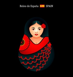 Matryoshka Spain vector